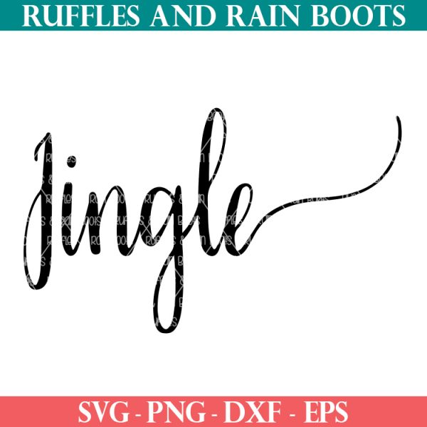 jingle svg on white background from Ruffles and Rain Boots