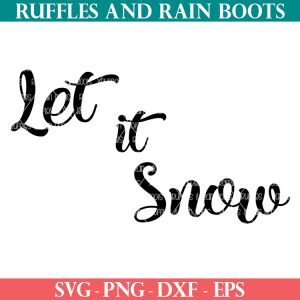 let it snow svg on white background