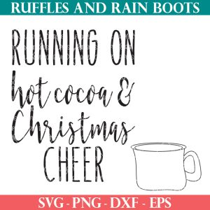 two Christmas svg files for free on Ruffles and Rain Boots