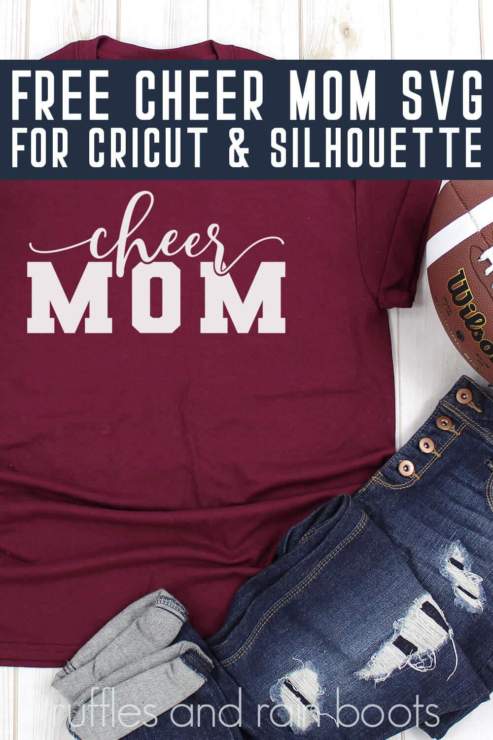 Overlay Knockout Cheer Mom Svg