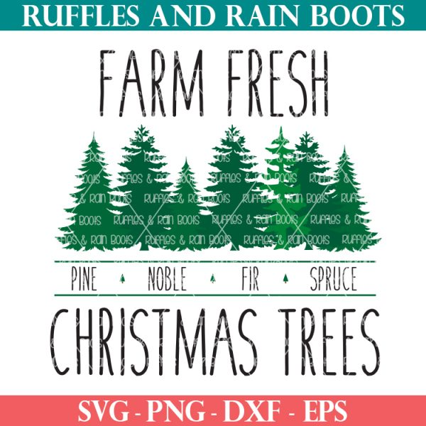 farm fresh Christmas trees svg farmhouse style Christmas cut file