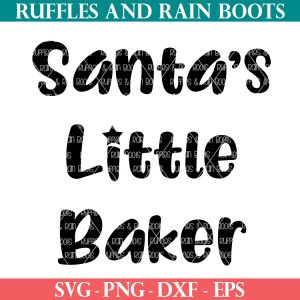 Christmas SVG Santa's Little Baker cut file set