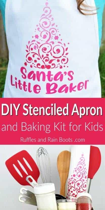 Christmas Santa's little baker svg for apron set