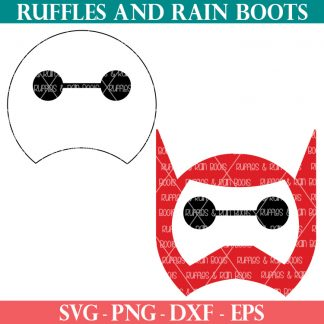two versions of Baymax SVG from Disney movie Big Hero 6 on white background from Ruffles and Rain Boots
