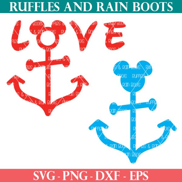 two Disney cruise SVG files for fish extender or gift