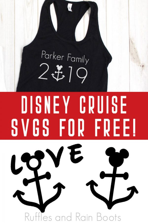 adorable family shirts for Disney cruise made with free disney Cruise svg files