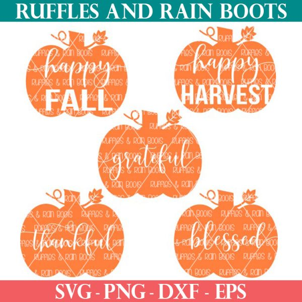 bundle of pumpkin svg files free at Ruffles and Rain Boots for a limited time