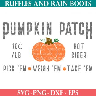 adorable pumpkin patch sign svg from ruffles and rain boots