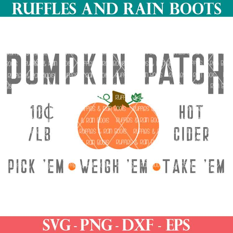 Make Fun Fall Decor With This Pumpkin Patch Sign Svg Cut File Set