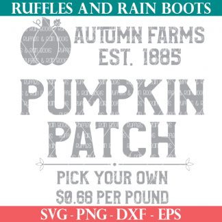 popular square pumpkin patch sign svg from ruffles and rain boots