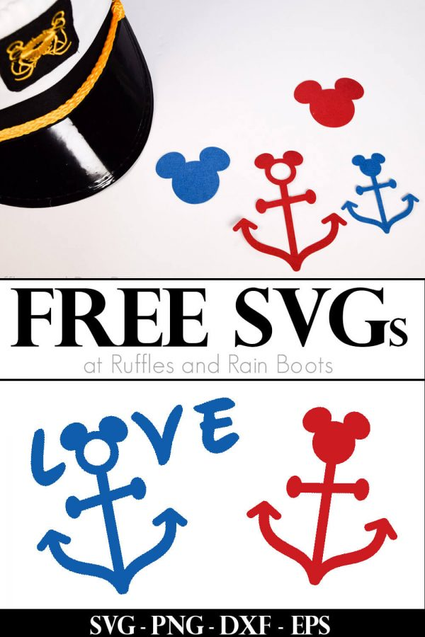 table scatter made from Disney cruise SVG files free from Ruffles and Rain Boots