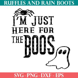 here for the boos svg on ruffles and rain boots