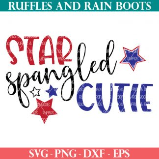 star spangled cutie svg for patriotic holiday like 4th of July