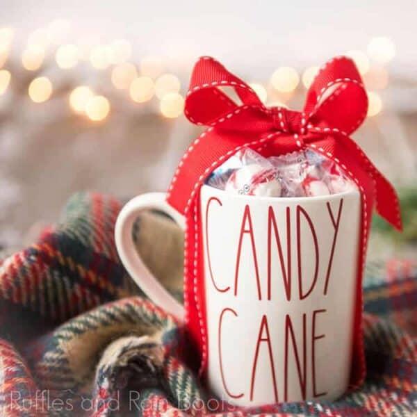 Christmas gift mug cut files