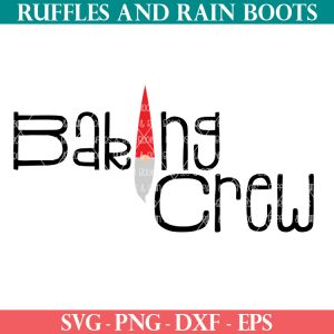 baking crew svg with gnome