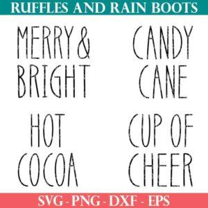 Christmas gift mug SVG