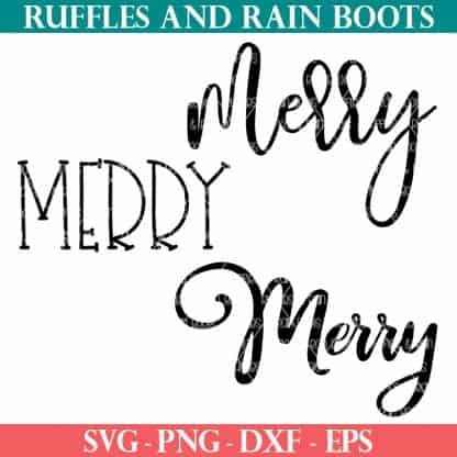 merry SVG bundle of cut files for Christmas