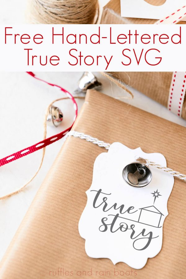 true story cut files used as gift tags made with Cricut