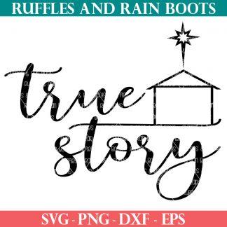 true story svg for Christ centered Christmas crafts