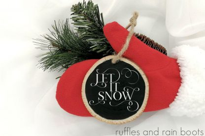 Let it Snow Ornament made with Cricut
