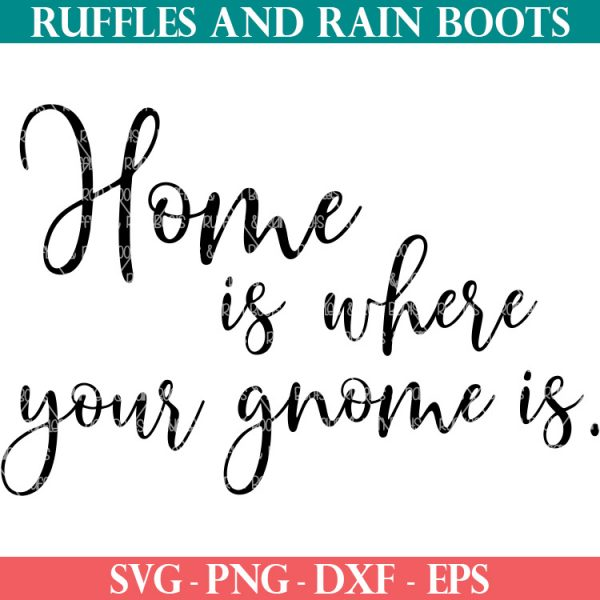 home is where your gnome is svg