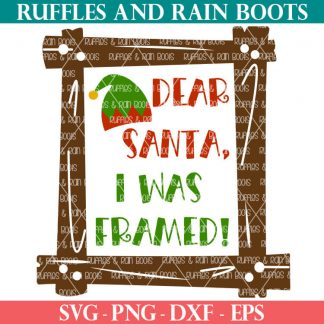 Dear Santa SVG for Christmas gifts and crafts