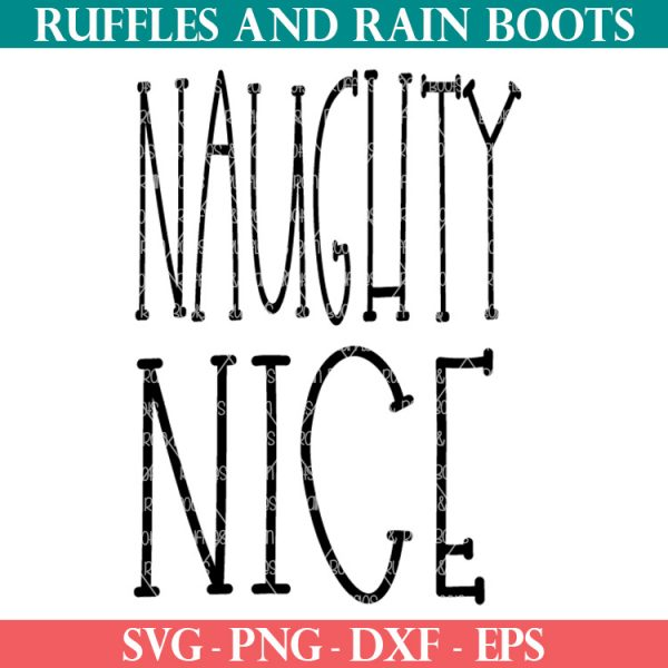 free naughty and nice svg from ruffles and rain boots