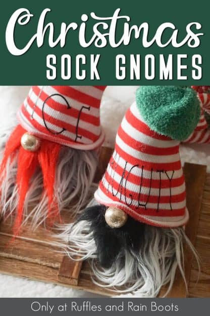 free naughty and nice svg with text which reads Christmas sock gnomes from Ruffles and rain Boots