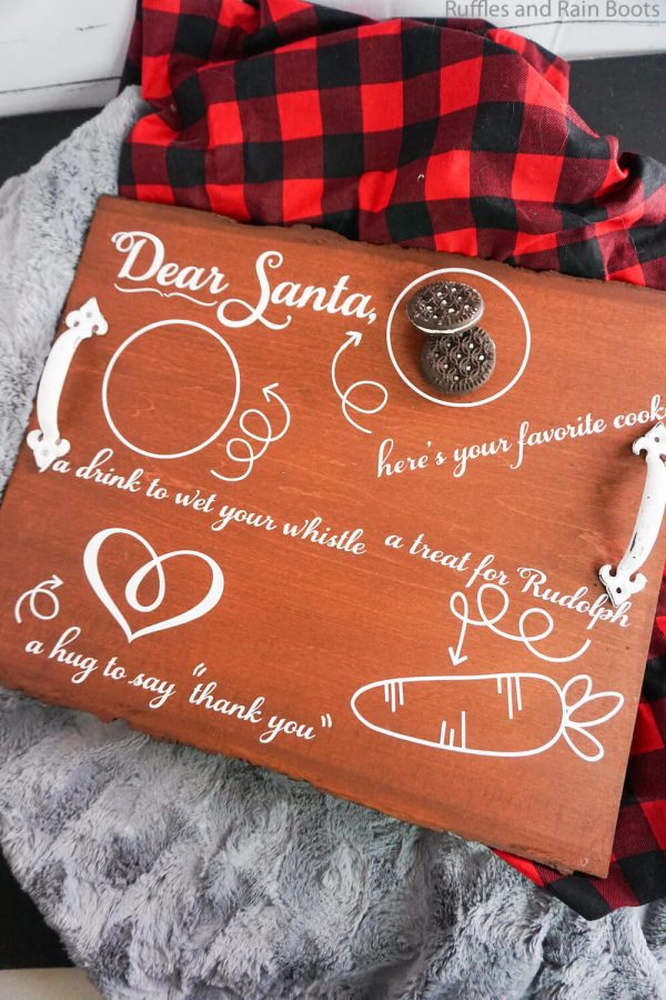 how to make a santa cookie tray