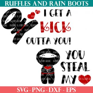 two Valentine ninja svg files for cricut and silhouette