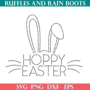 hand drawn slim line hoppy Easter svg png dxf eps