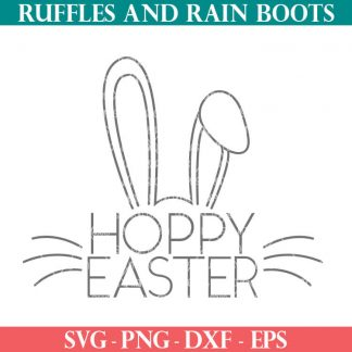 hand drawn slim line hoppy Easter svg png dxf eps