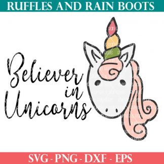 Believer in Unicorns SVG file for unicorn crafts