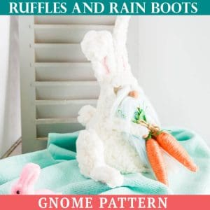 Easter Bunny no-sew Gnome Pattern