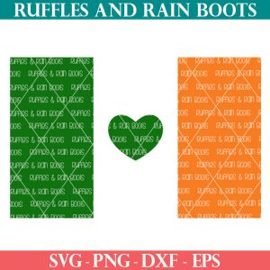 green white and orange free Irish flag Svg for Cricut and Silhouette machines