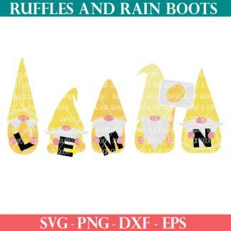 Lemon Gnome sublimation design for summer crafts