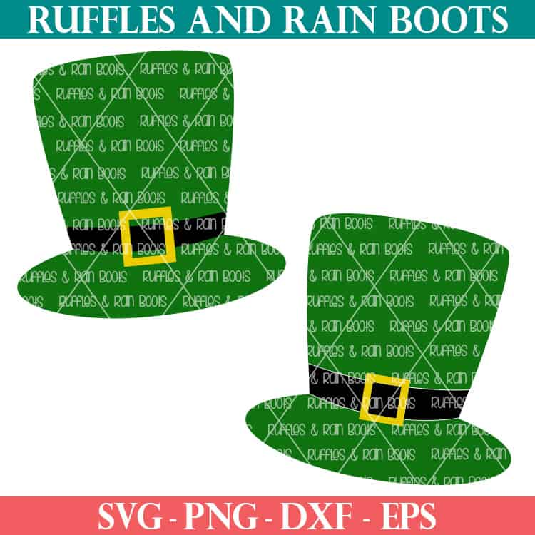 leprechaun hat svg png dxf eps for cricut and silhouette cutting machines