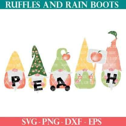 Peach Gnome SVG set for cricut or silhouette