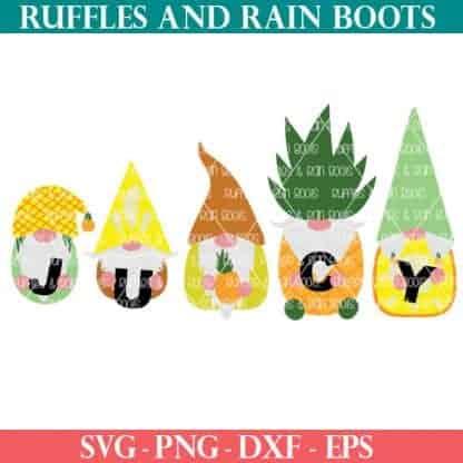 Pineapple Gnome SVGs for farmhouse decor