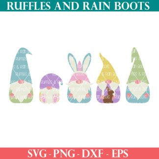 Easter Gnome SVGs For spring crafts