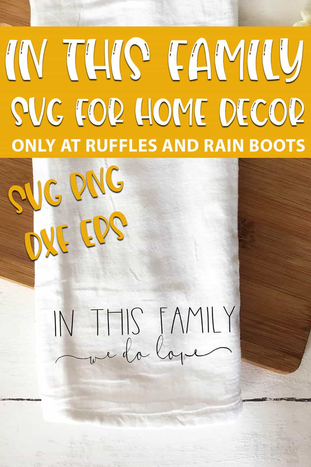 In This Family We Do Love SVG cut file set for cricut or silhouette with text which reads in this family SVG for home decor svg png dxf eps