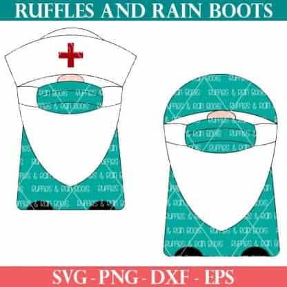 doctor nurse medical gnome svg set on white background