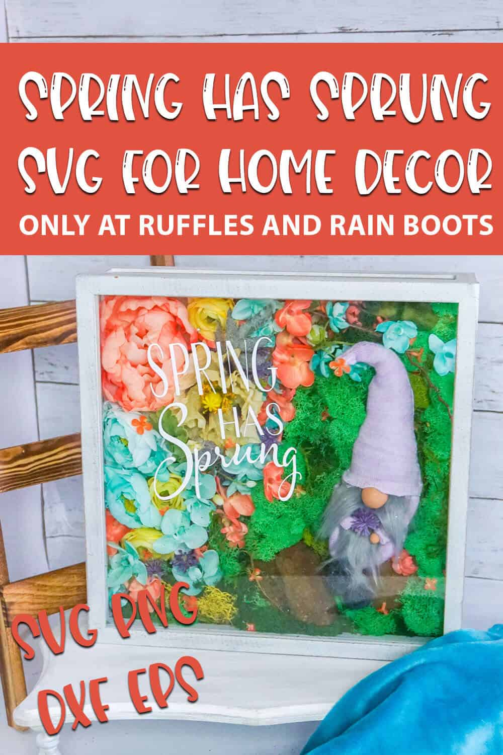 Spring Has Sprung cut file for cricut projects with text which reads spring has sprung svg for home decor svg png dxf eps