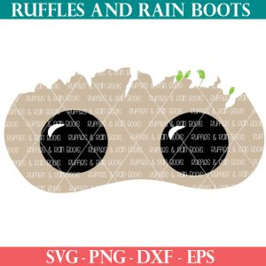 Baby Groot Mask cut file set for cricut or silhouette