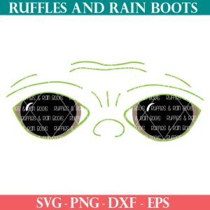 Baby Yoda sleep Mask SVG Set for cricut or silhouette