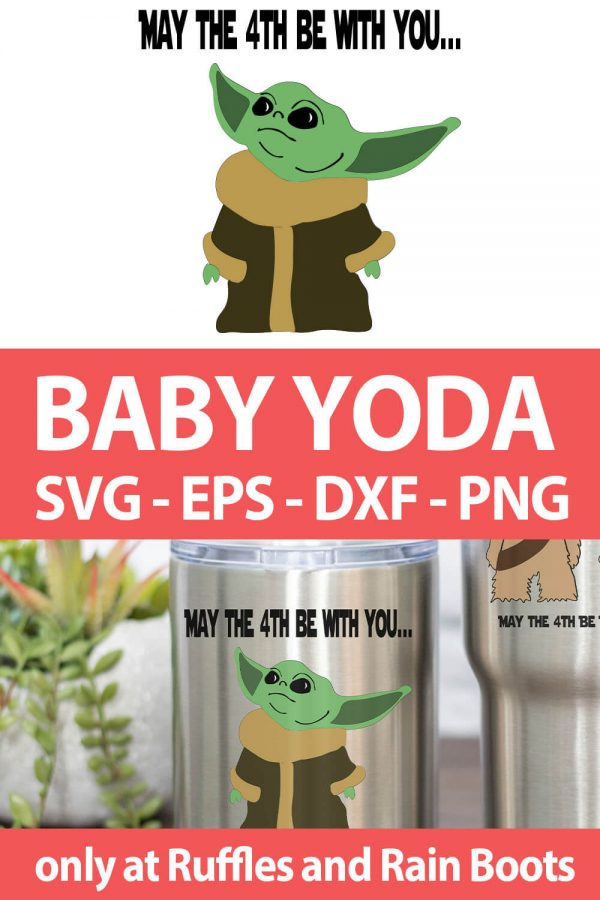 photo collage of baby yoda cut file set for cricut or silhouette