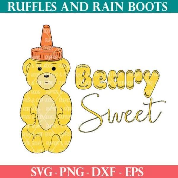 Beary Sweet honey bear cut file set for cricut or silhouette