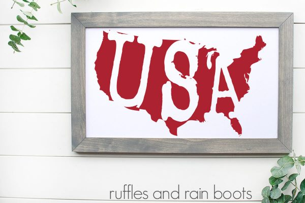 easy Cricut project for beginners july 4th holiday with usa silhouette design and easy weeding
