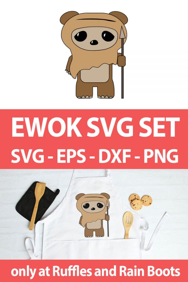 photo collage of star wars ewok svg set