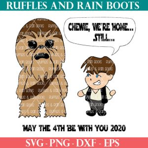 han solo and chewbacca SVG set for Cricut and Silhouette